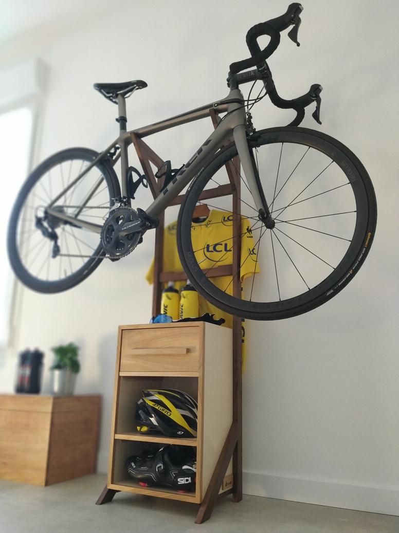 stand vélo Jules B mobilier contemporain sur mesure