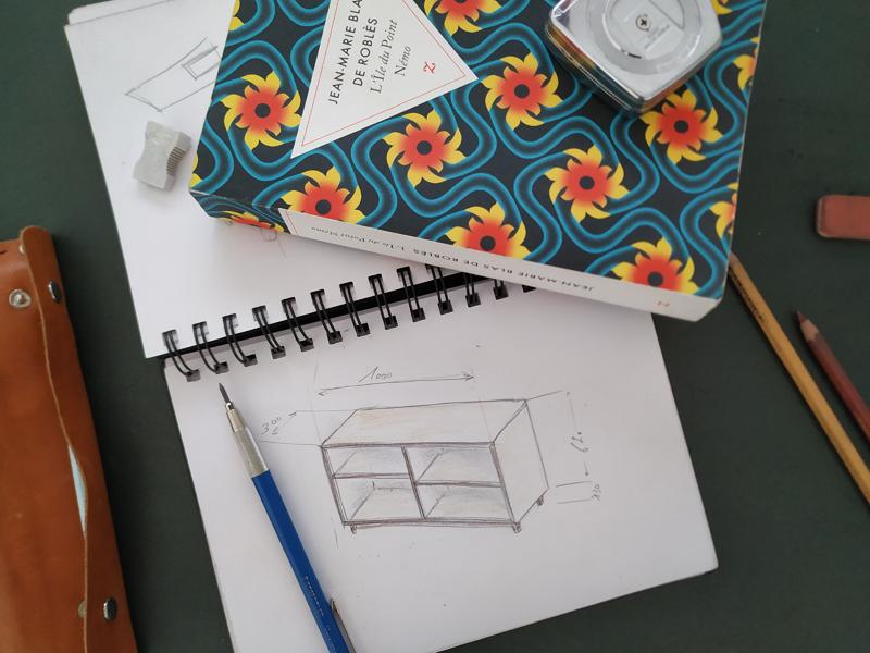 bibliothèque modulaire Jules B dessins