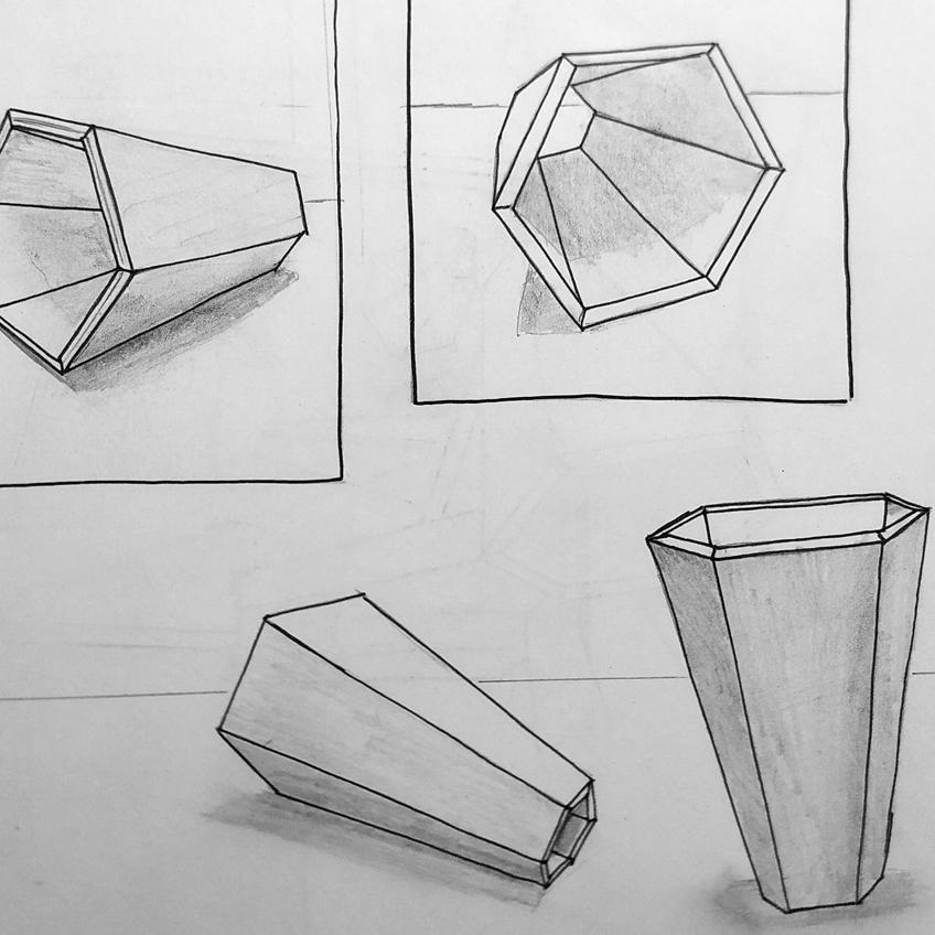 Cône lampe Jules B Design dessin